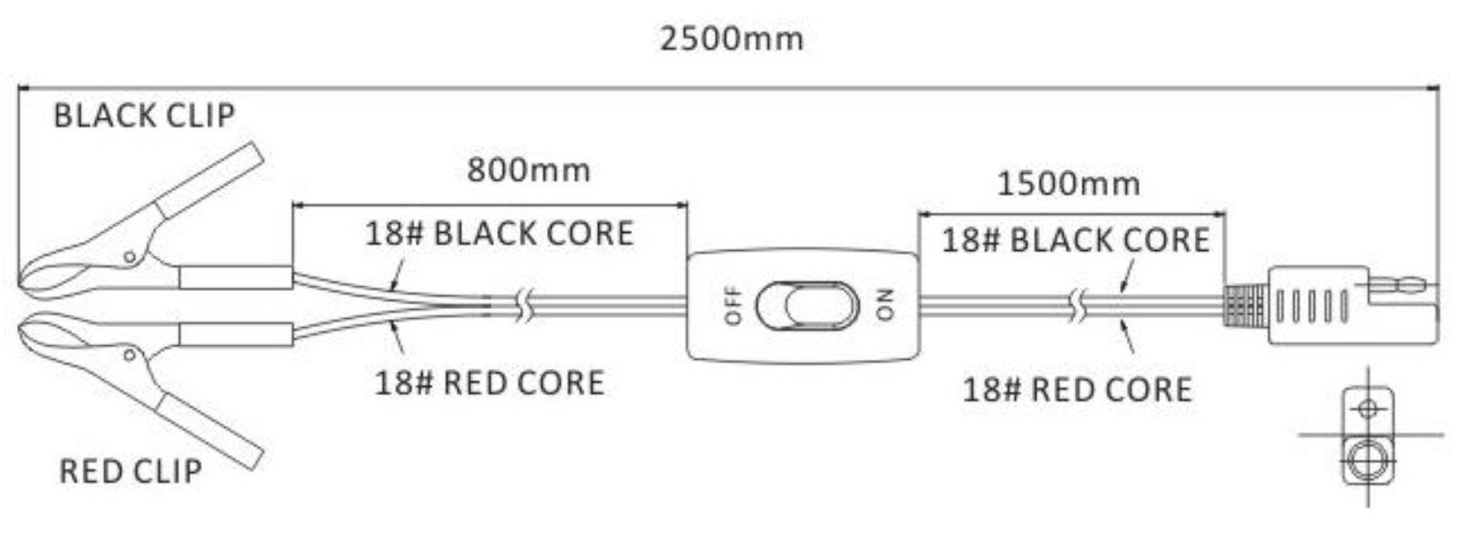 rozměr Kabelu pro čerpadlo na autobaterii